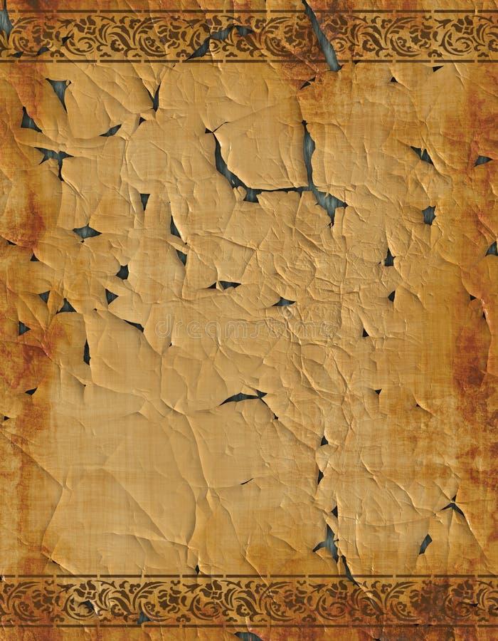 stary projektu papier pergamin royalty ilustracja