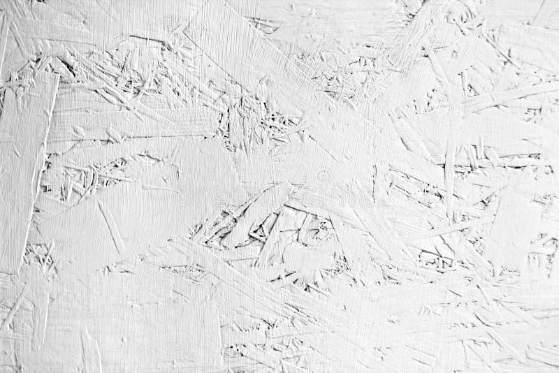 Stary prześcieradło malujący w bielu dykta obrazy royalty free