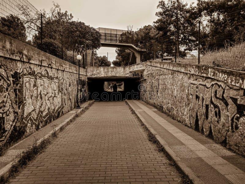 Stary przejście podziemne zdjęcie stock