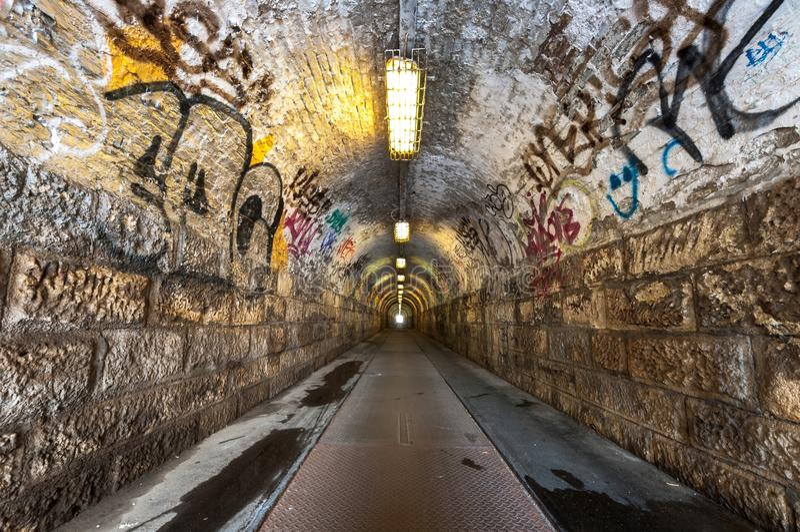 Stary przemysłowy tunel fotografia royalty free