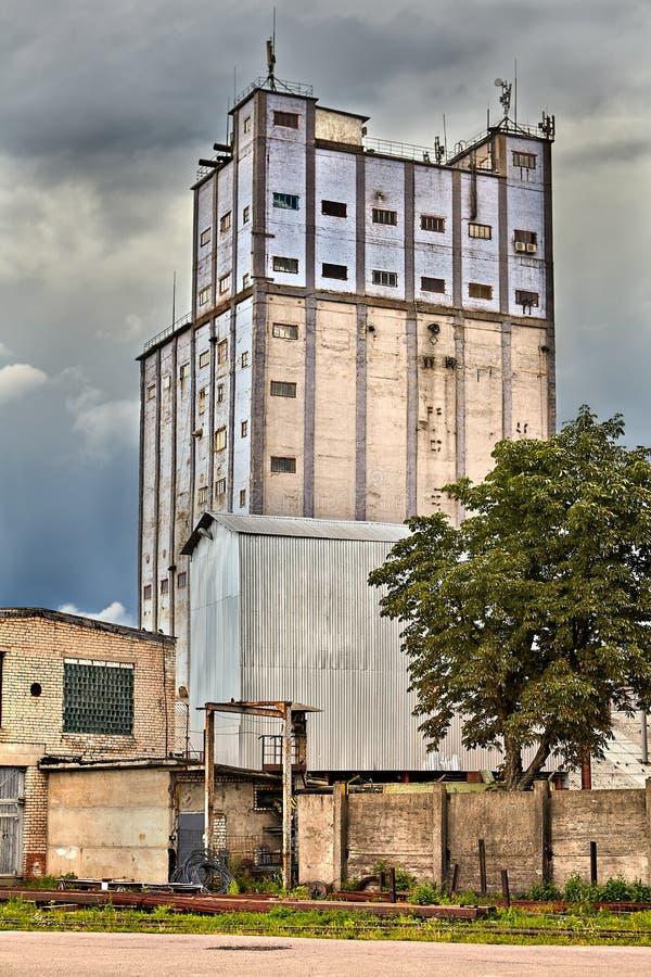 Stary przemysłowy zmechanizowany piekarnia budynek w Vitebsk, Białoruś obraz stock