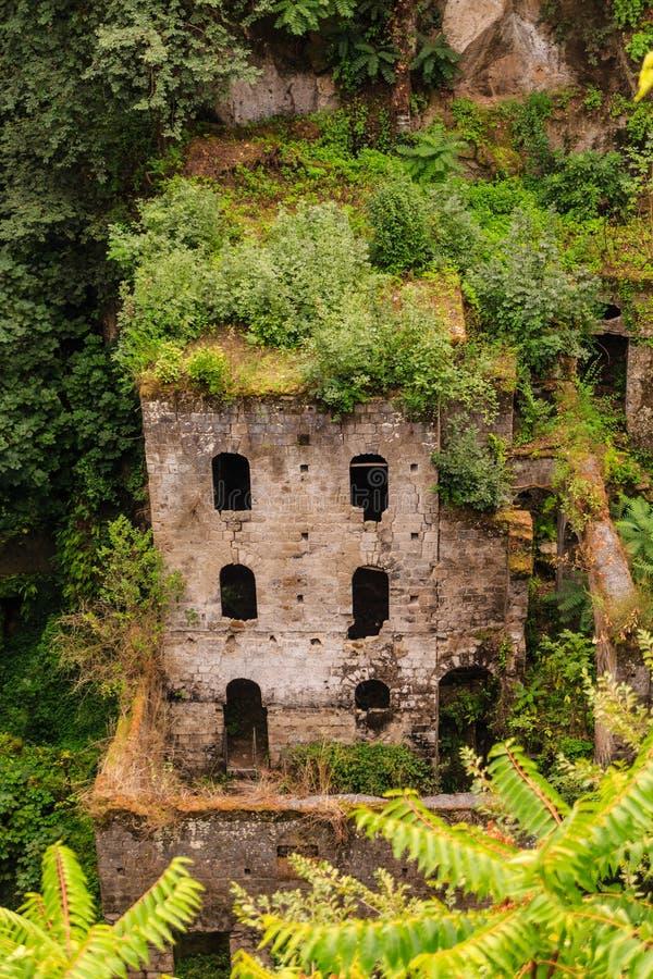 Stary Przerastający budynek w Sorrento dolinie obrazy stock