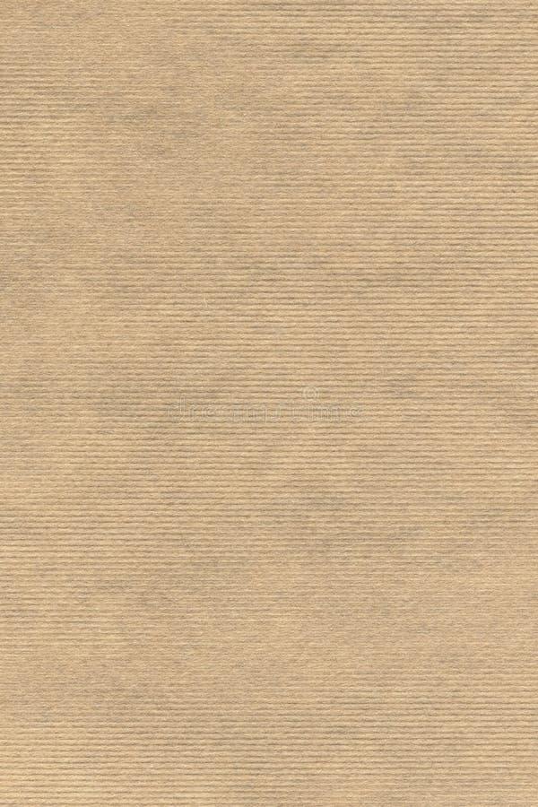 Stary Przetwarza Pasiastą Kraft papieru Grunge tekstury próbkę zdjęcia royalty free