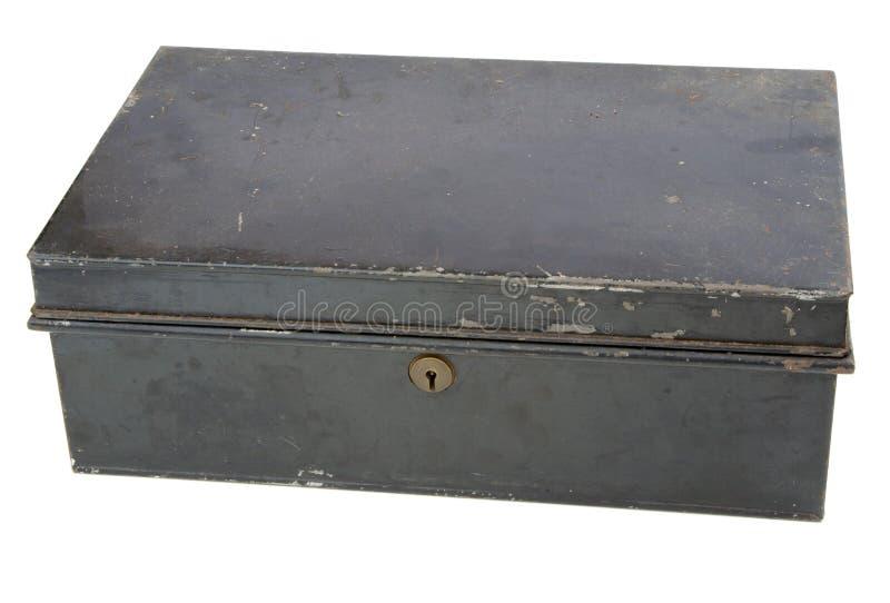 stary pudełkowaty metal zdjęcie stock