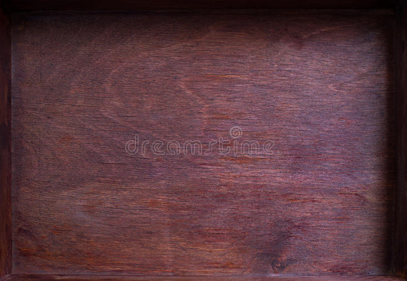 Stary pusty drewna pudełko obraz stock