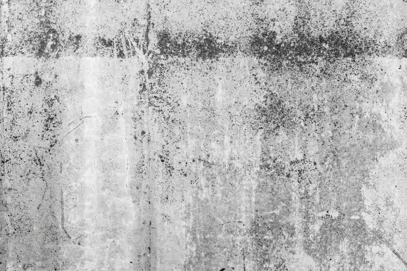 Stary pusty zmrok - szara betonowa ściana, tło zdjęcie stock