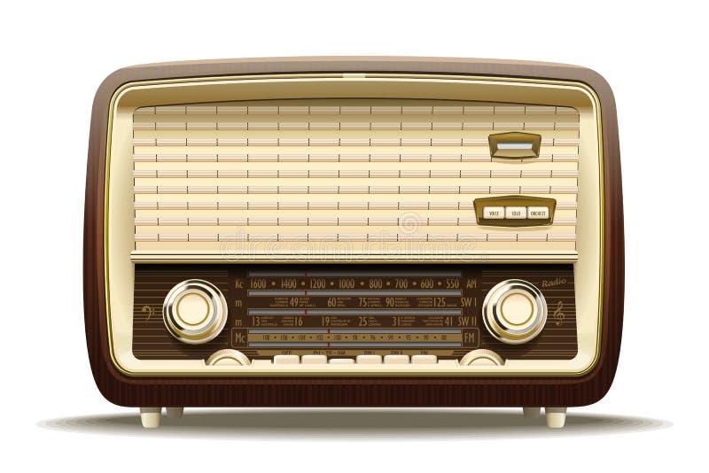 Stary radio royalty ilustracja
