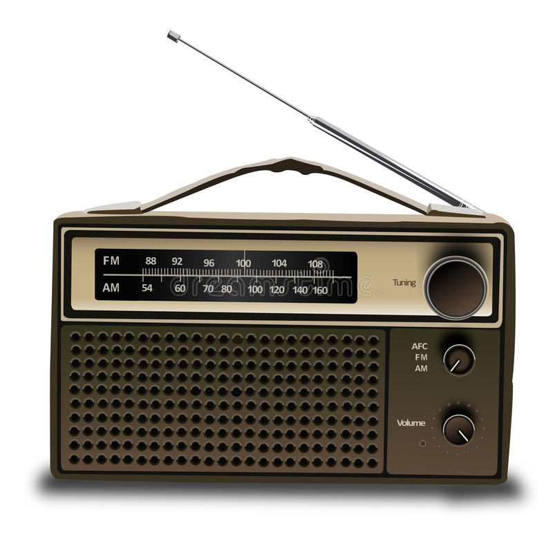Stary radio 3d royalty ilustracja