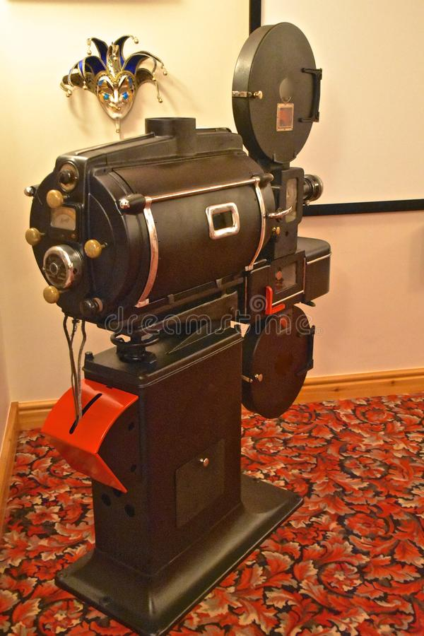 Stary retro filmu projektor obraz stock