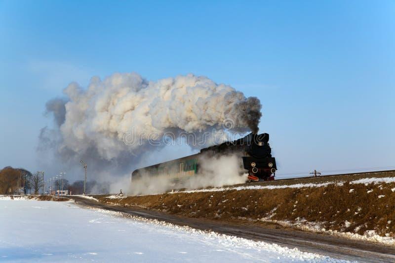 Stary retro kontrpara pociąg zdjęcia royalty free