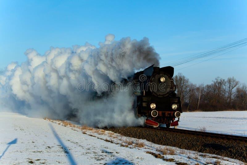 Stary retro kontrpara pociąg obrazy stock