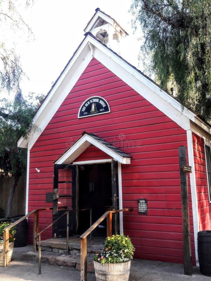 Stary rewolucjonistki szkoły dom, Buena park Kalifornia fotografia royalty free