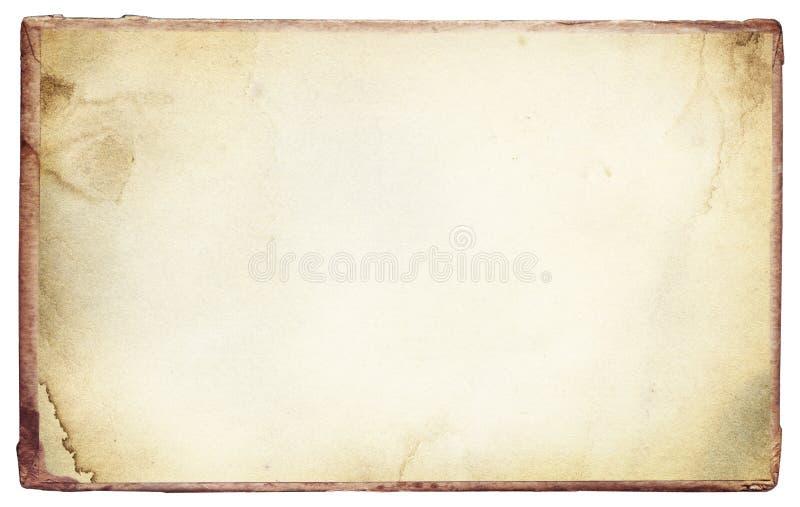 Stary, rocznik plamił papierową teksturę z ramą zdjęcia royalty free