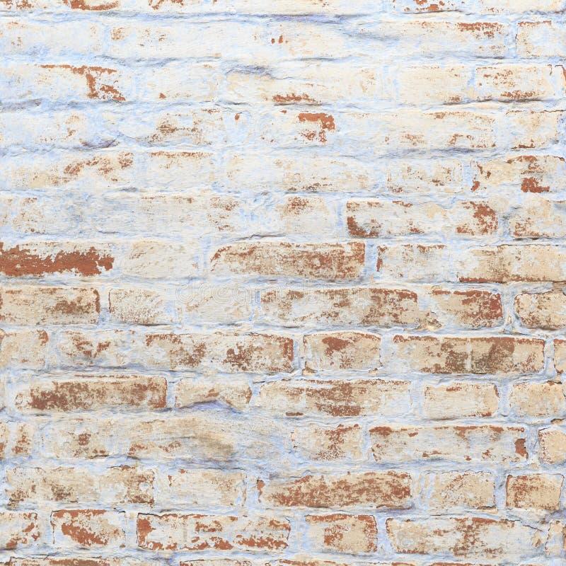 Stary rocznika ściana z cegieł z resztkami wapno obrazy stock