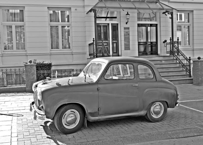 Stary rocznika samochód Amsterdam zdjęcie stock
