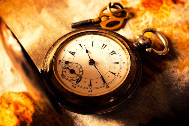 Stary rocznika zegar fotografia stock