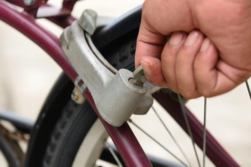 Stary rowerowy kędziorek zdjęcia royalty free