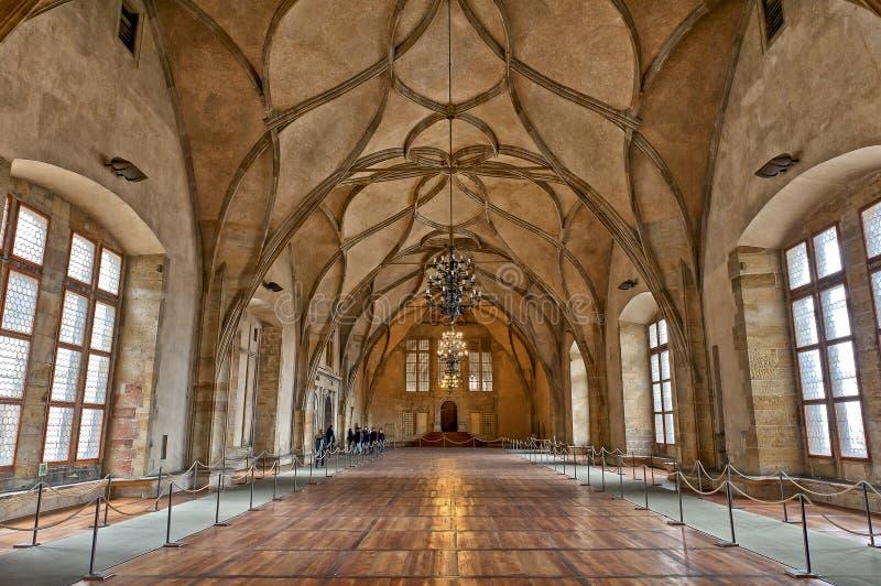 Stary Royal Palace, Praga, republika czech obraz stock