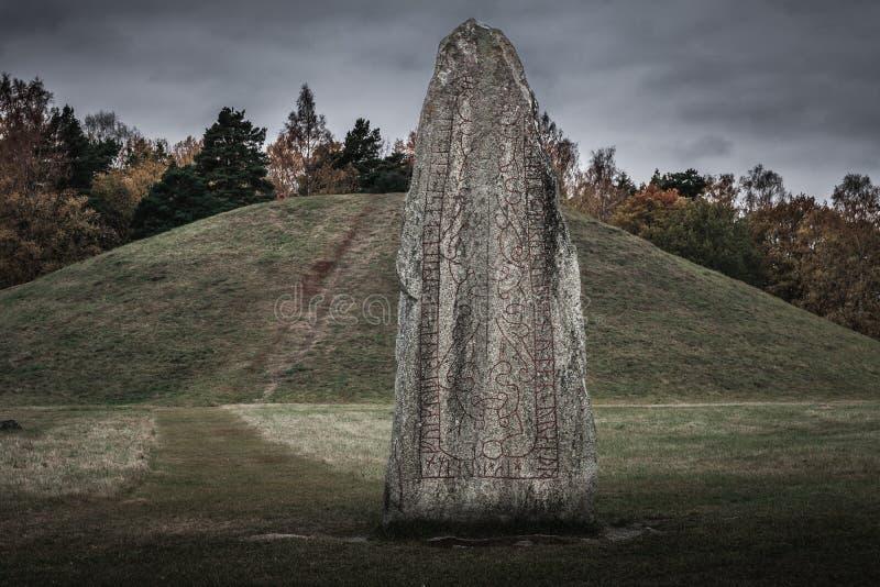 Stary rune kamień zdjęcia royalty free
