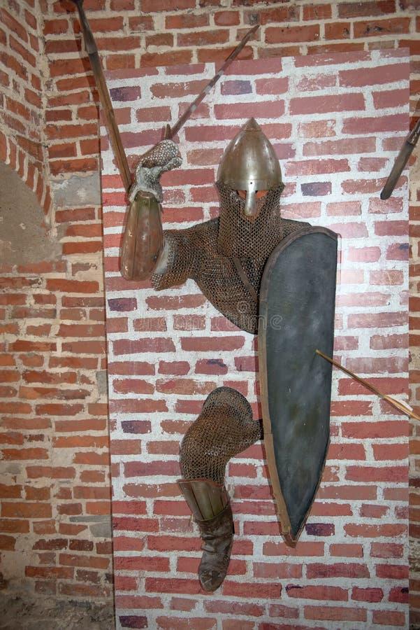 Stary rycerz od grodowych ścian obraz royalty free