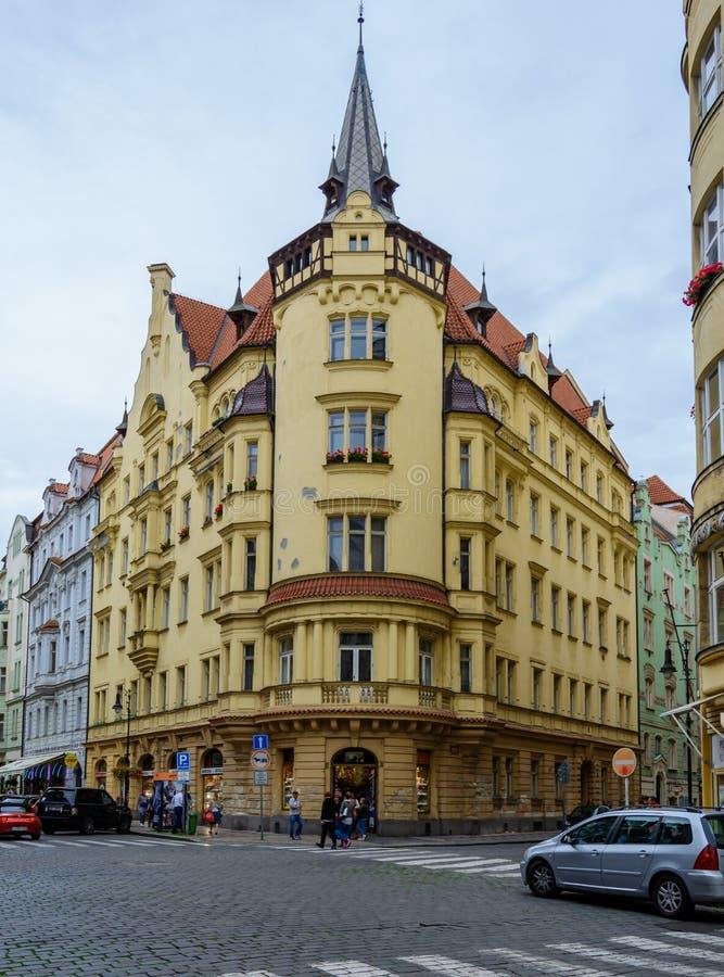 Stary rynek Praga, republika czech Lipiec 2017 obrazy stock