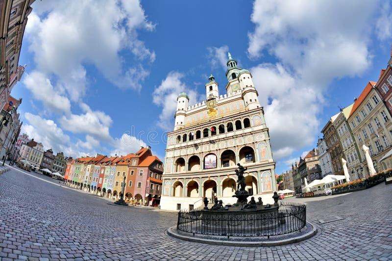 Stary rynek w Poznańskim obraz stock