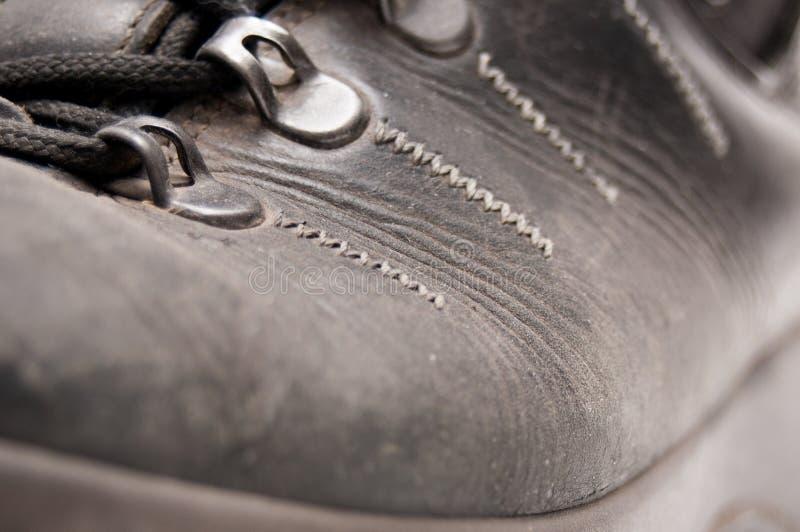 Stary rzemiennego buta szczegół obraz stock