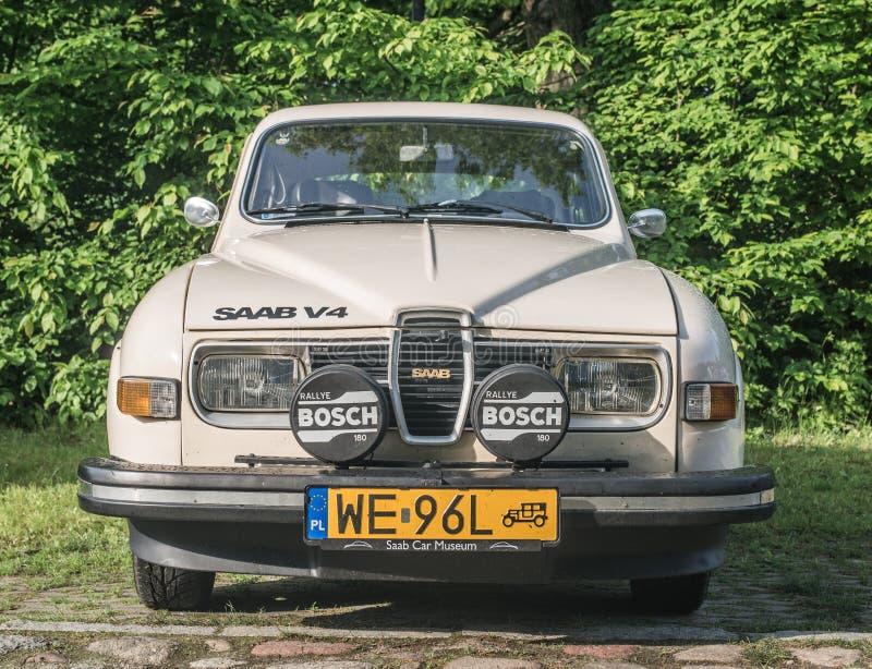 Stary Saab 95 samochód obraz royalty free