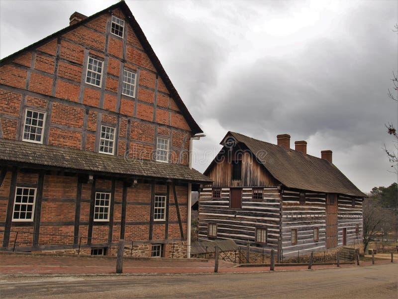 Stary Salem muzeum, ogródy & zdjęcie royalty free