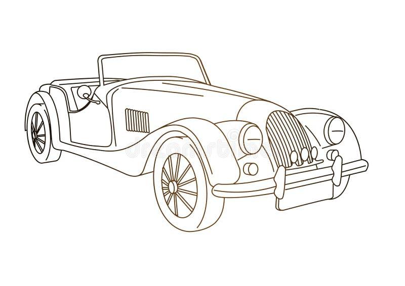 stary samochód antykami royalty ilustracja
