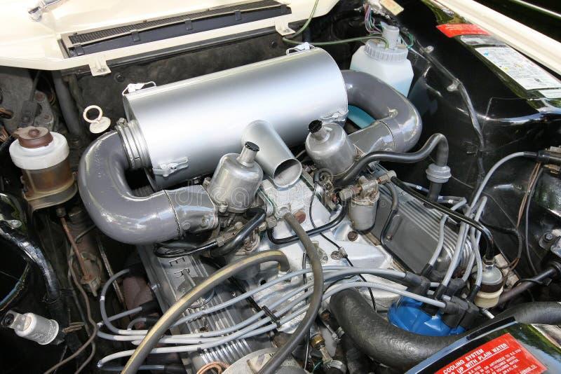 Stary samochodowy występu silnik obrazy stock