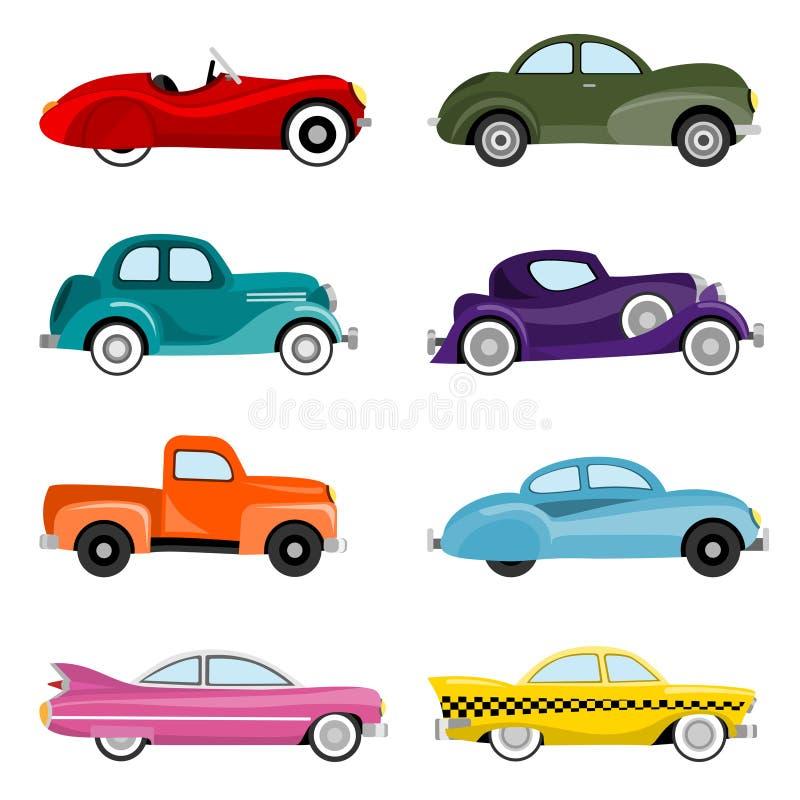 stary samochodu wektor ilustracji