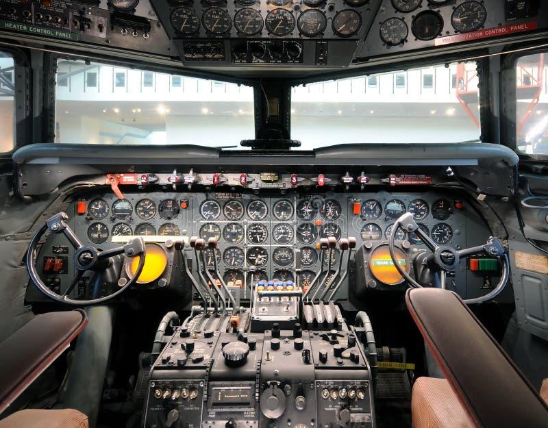 Stary samolotowy kokpit zdjęcie stock
