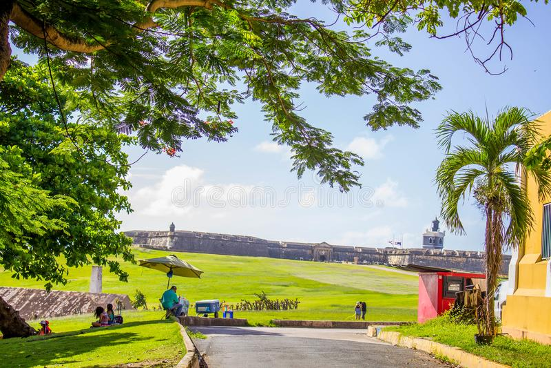 STARY SAN JUAN, En mi Viejo San Juan PUERTO RICO obraz royalty free