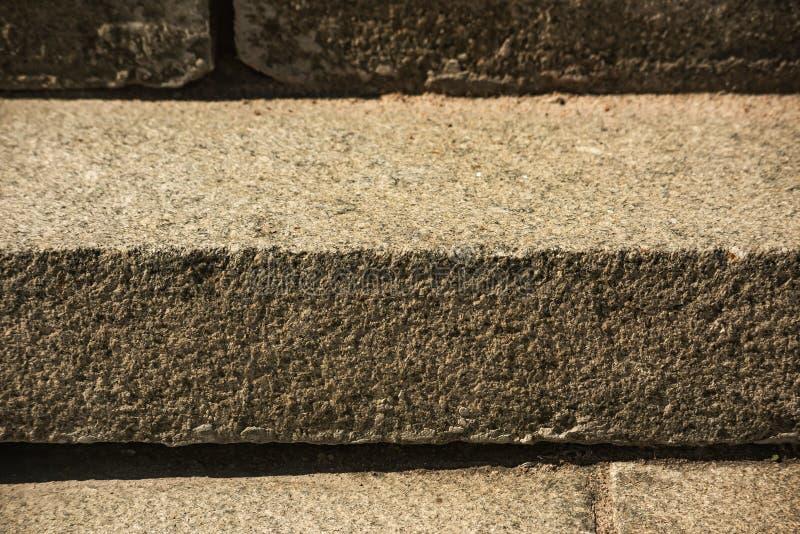 Stary schody robić kamień, miękka ostrość obrazy stock