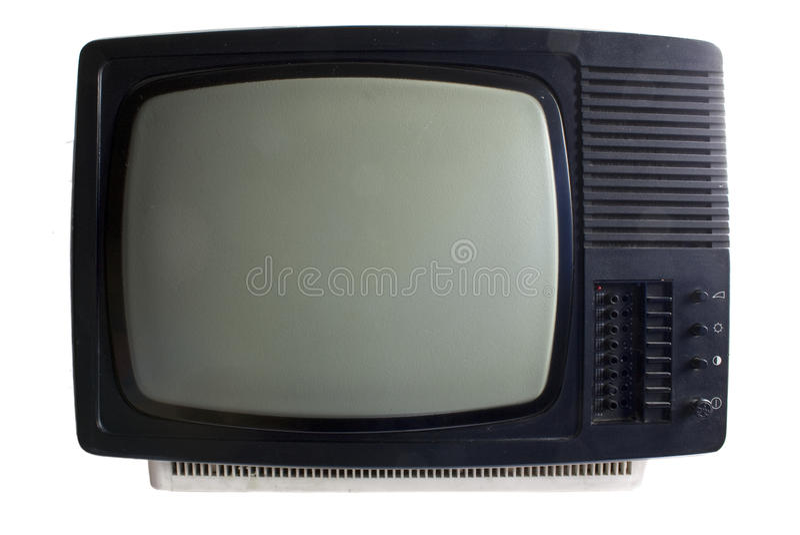 stary set tv zdjęcia royalty free