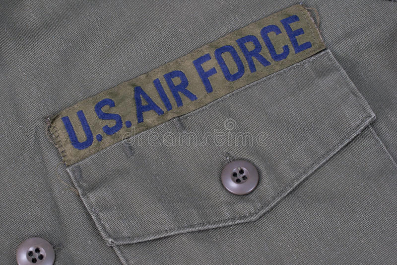 stary siły powietrzne mundur my zdjęcie stock