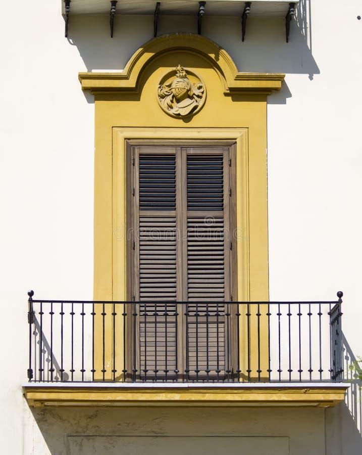 Stary siclian okno zdjęcie stock