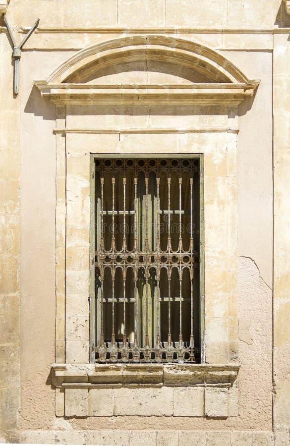 Stary siclian okno fotografia royalty free