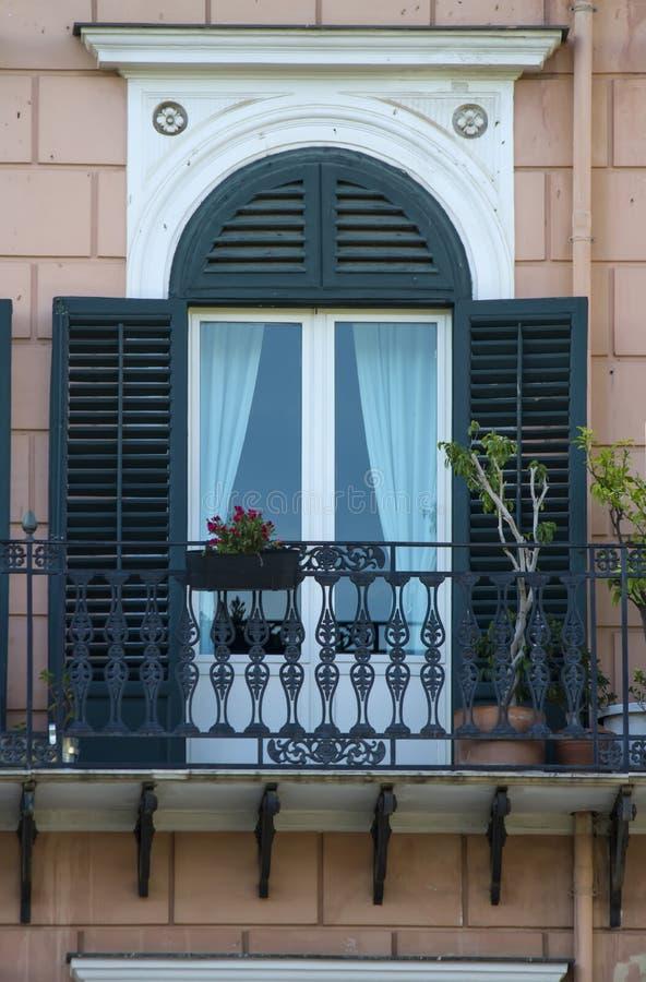 Stary siclian okno obraz stock
