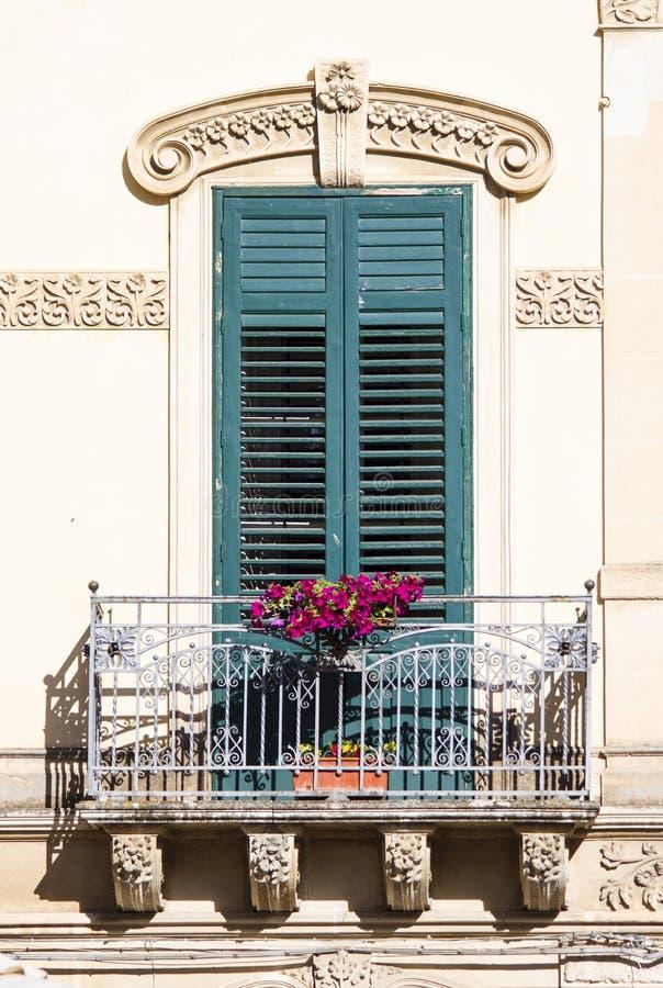 Stary siclian okno fotografia stock