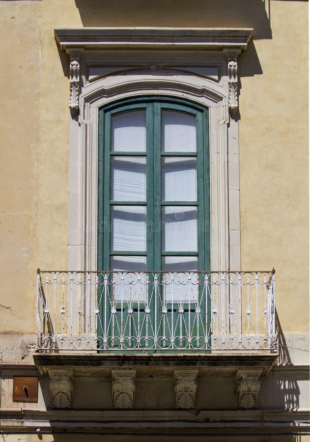Stary siclian okno obraz royalty free