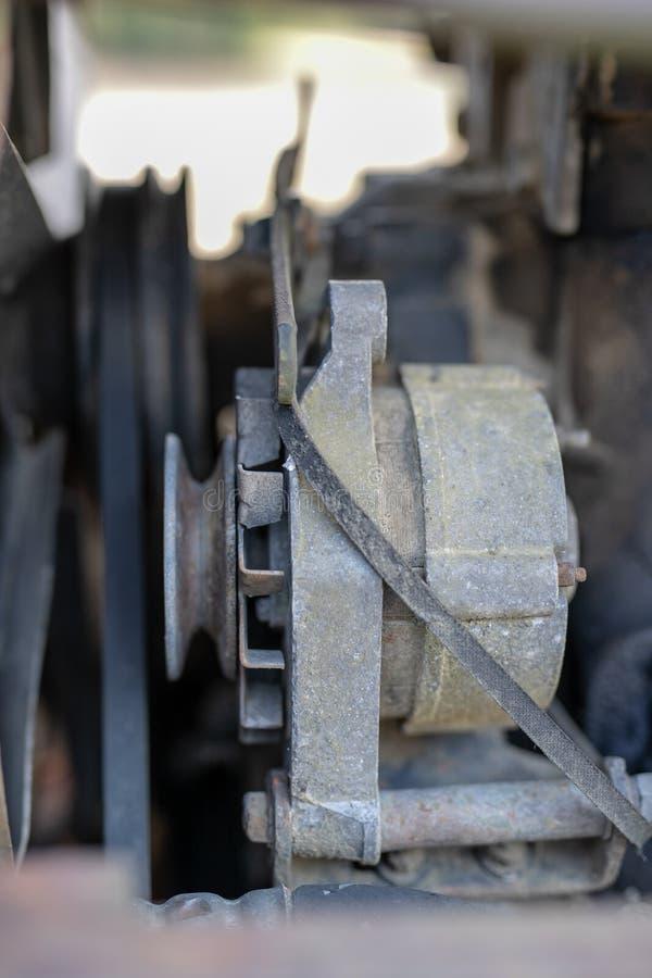 Stary silnik diesla Wnętrze nieużywany silnik obraz royalty free