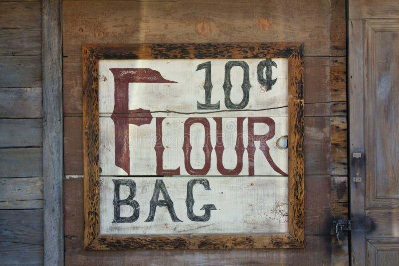 Stary sklepu znak zdjęcie stock