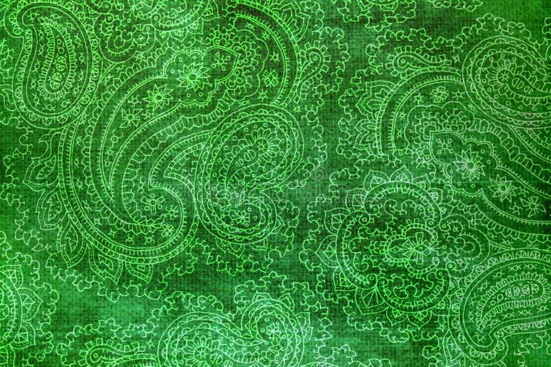Stary skomplikowany Paisley wzór na papierze obrazy stock