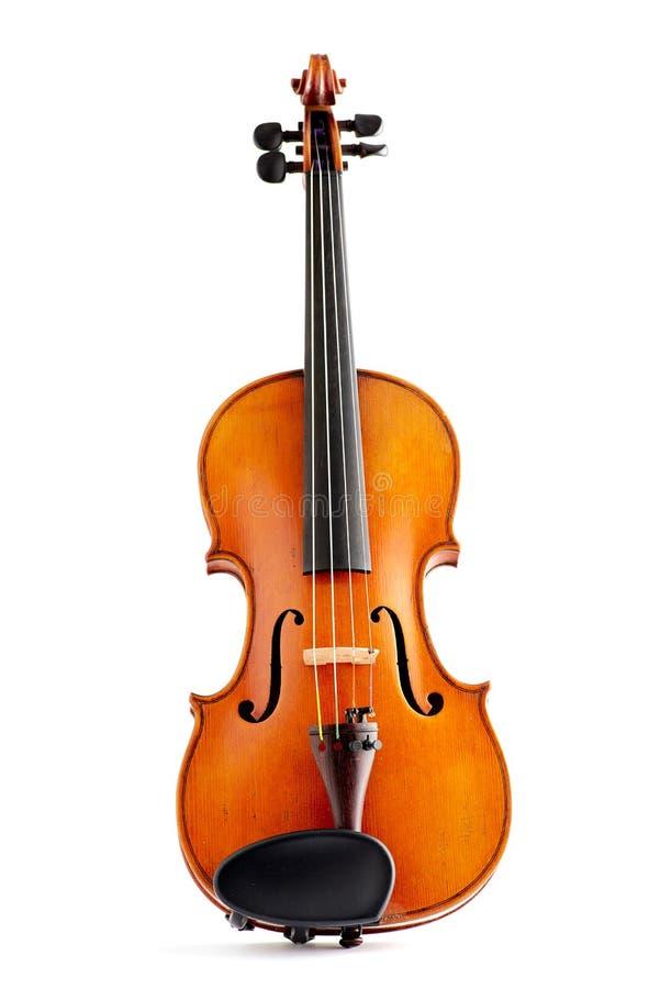 Stary skrzypce na bielu fotografia stock