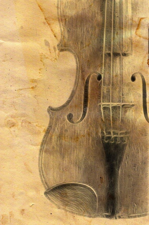 Stary skrzypki royalty ilustracja