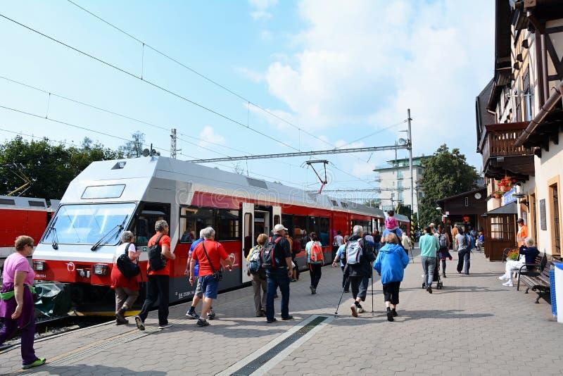 Stary Smokovec railway station stock photography