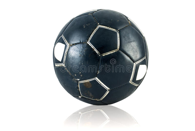 Stary soccerball obraz royalty free