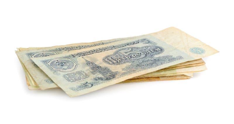 Stary sowiecki pieniądze obraz stock